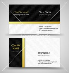Business cards set template vector on VectorStock®