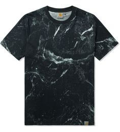 Carhartt WORK IN PROGRESS Black S/S Marble T-Shirt