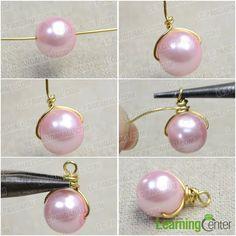 Step 1: Make single pearl dangle