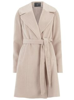 Tall Blush Fit and Flare Coat