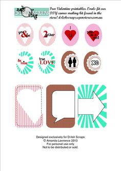 Free True Love Journal Cards and Labels from D-lish Scraps