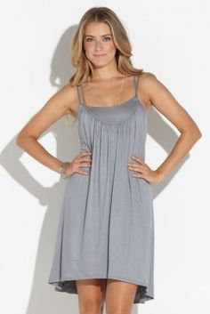 Tart Collections Anastasia Sundress in Steel Gray. Sexy back!