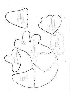 chicken applique pattern... galinha