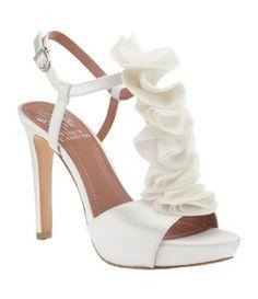Ruffle wedding shoes