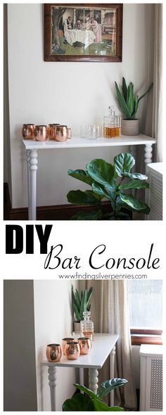 DIY Bar Console Finding Silver Pennies #sponsored