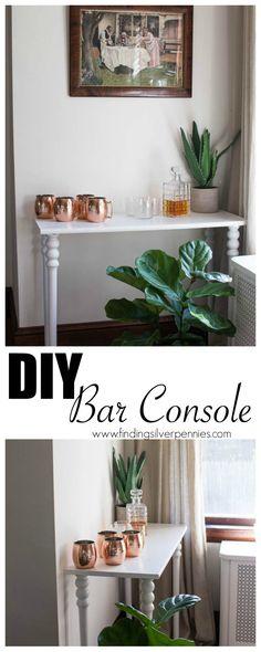 DIY Bar Console Find