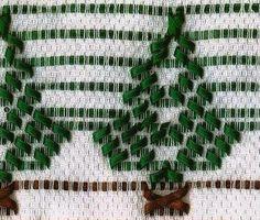 Bordado Passo a Passo: Árvore de Natal bordada em vagonite
