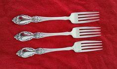 3 Dinner Forks Louisiana by Oneida Community Stainless Flatware Silverware #Oneida