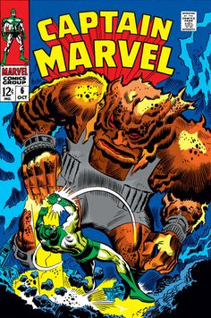 "Captain Marvel vol.1 # 6, ""In the Path of Solam!"" (October, 1968). Cover by Don Heck & John Tartaglione."