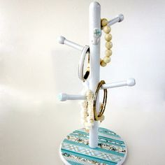 turn a cup holder into a jewelry stand