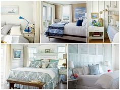 Coastal seaside master bedrooms