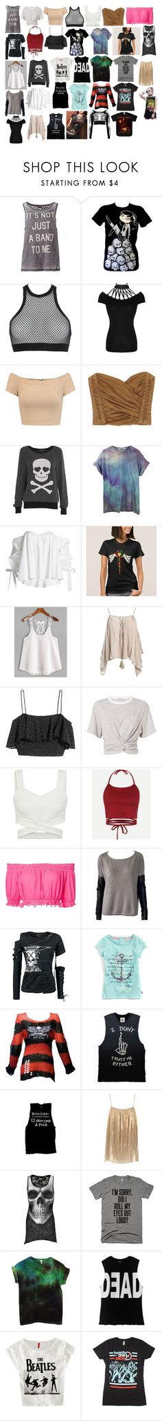 """Girl Shirts 27"" by spellcasters ❤ liked on Polyvore featuring ONLY, Dsquared2, Alice + Olivia, Balmain, Wildfox, Caroline Constas, Sans Souci, T By Alexander Wang, Apiece Apart and PJK Patterson J. Kincaid"