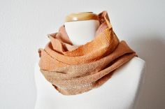 NOMAD Scarf  Rustic Scarf Handwoven in Luxury Alpaca by awkward