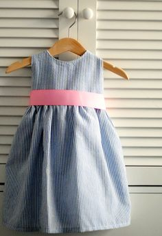 DIY Seersucker Easter Dress by Pretty Cool Life