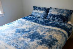 hand dyed indigo shibori bedding duvet by riversidetoolanddye