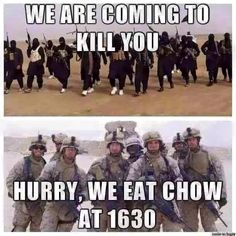 ★ CHOW TIME ★ 1630 HRS.! ★