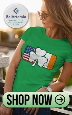 4f45329d I love this unique t-shirt with Irish and American flags and Irish Shamrock!