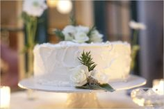 """one large cake with """"homemade"""" style frosting and a few flowers tucked around it. I'm envisioning it sitting """"inside"""" a wicker style wreath. Wedding Dinner, Our Wedding Day, Wedding Bells, Wedding Events, Wedding Stuff, Deep Purple Wedding, Floral Wedding, Single Layer Cakes, Wedding Inspiration"""