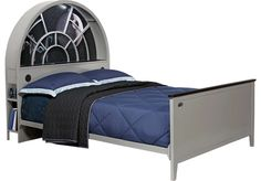 <i>Star Wars< i> Millennium Falcon™ Gray 3 Pc Full Bookcase Bed -Full BedsColors