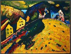 Houses at Murnau, 1909 / Kandinsky