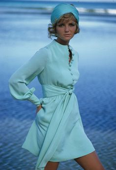 Cheryl Tiegs, 1960s, dress by Stan Herman.