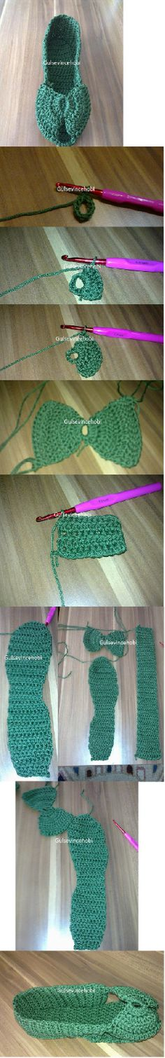 crochet slippandals! (slipper-sandals) - pictorial