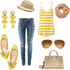 Love this yellow outfit.