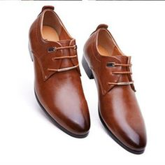 Mens business office genuine leather shoes gentleman luxury brand wedding party black brown shoes great breathable dress big size