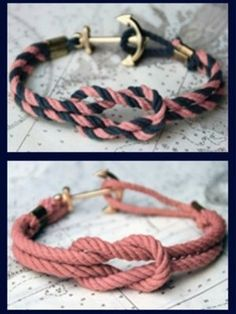 DIY Anchor Bracelets.   -Defiantly going to try this!  -So cute