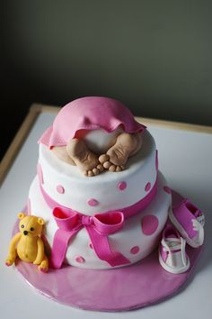 Baby Bum Cake Girl (brown polka dots on dress would be cute!)