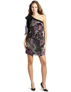 Kensie Blurry Ink Blot Dress