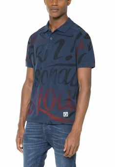 61L17A0_5117 Desigual Man Polo Julio, Navy Shirt
