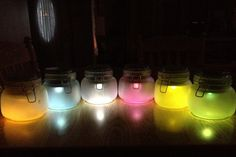 DIY Multi-Colored Solar Lights in Jars Tutorial | via putitinajar.com