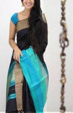 Cotton Saree Blouse Designs, Fancy Blouse Designs, Fancy Sarees Party Wear, Saree Color Combinations, Silk Saree Kanchipuram, Simple Sarees, Saree Trends, Saree Models, Stylish Sarees