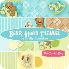 Bear Hugs Flannel Fat Quarter Bundle Shelly Comiskey for Henry Glass Fabrics
