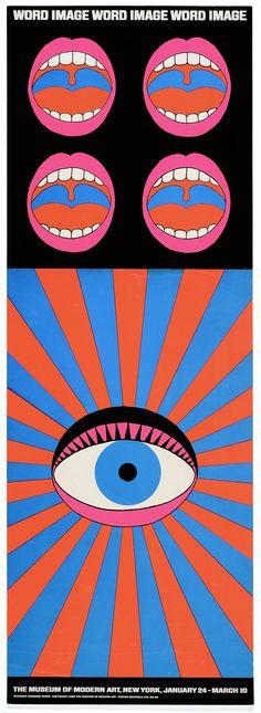 Tadanori Yokoo, Japanese, born 1936: Word and Image, 1968, color screen print.