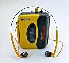 Sony Walkman - Sport  It was even waterproof! Plays TAPES!!
