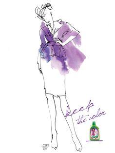 Anna Halarewicz - fashion illustration used in advertising campaign