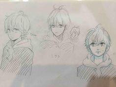 Momoko Kouda sketches inspired by Yamamori Mika´s characters