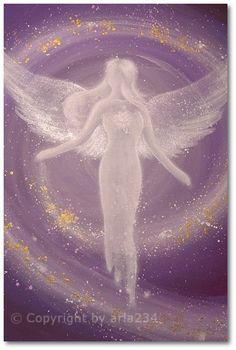"Limited angel art photo ""universal life energy"" , modern angel painting, artwork, perfect also for picture frame. €10.00, via Etsy."