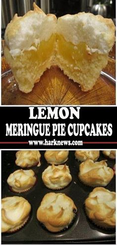 Easy Cupcake Recipes, Dessert Recipes, Yummy Things To Bake, Gourmet Cakes, Lemon Meringue Pie, Dessert For Dinner, Cupcake Cakes, Cupcakes, Muffins
