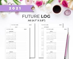 A6 Dated 2021 Minimal Printable Future Log Calendar Inserts Project Planner, Planner Ideas, Weekly Planner Printable, Mini Happy Planner, Teacher Planner, Printer Paper, Planner Inserts, Printable Paper, Hourglass
