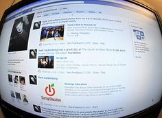 The home page for Facebook founder Mark Zucker...