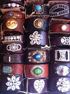 Fabulous Findings and leather bracelets