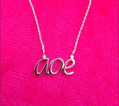 AOE #aoe #alphaphi #alphaphilove #sistersforever #navikagirl #sororityjewelry #alphaphijewelry #silvernecklace #greeklife #gogreek #rushweek