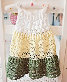 Crochet dress PATTERN - Crochet Tiered Dress (baby, toddler, child sizes) (English only) Crochet Toddler Dress, Baby Girl Crochet, Crochet Clothes, Clothing Patterns, Dress Patterns, Cute Baby Dresses, Toddler Christmas Dress, Crochet With Cotton Yarn, Crochet Skirt Pattern