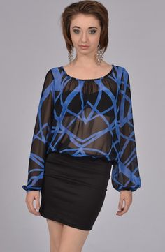 Black Blue Dress Stylist's Tip: Pair it up with a black blazer for an office look.