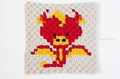 This is part of my Zoodiacs series, depicting animals in the Chinese zodiac. Each original design can be made on its own into pillows, or sewn together for a large Zoodiacs blanket using single crochet stitches or cluster/C2C stitches.