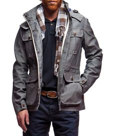 grey men's jacket