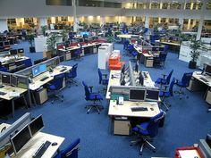 Sunday Telegraph Newsroom by victoriapeckham, via Flickr